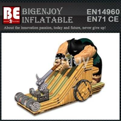 Commercial Inflatable AXEMAN Dual Slide