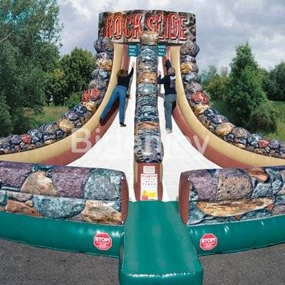 Interactive game inflatable Rock Slide
