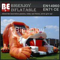 Sabre tooth inflatable,inflatable tiger slide,Sabre tooth tiger slide
