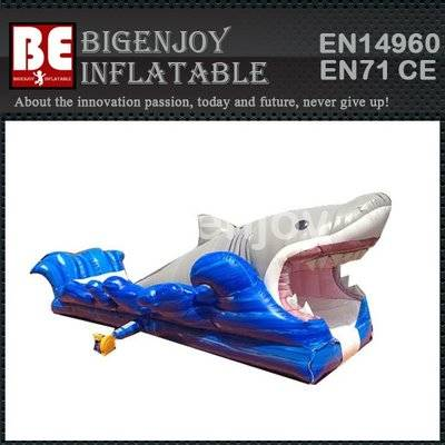 Inflatable shark attack water slide