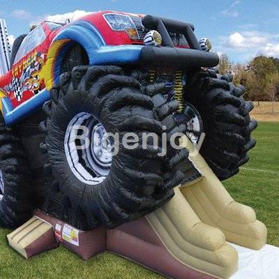 Monster truck inflatable bouncy combo