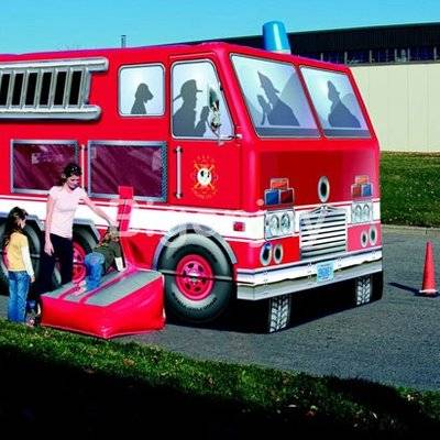 Fire truck model inflatable bouncer