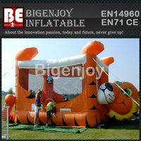 Inflatable Tiger Belly,Tiger Belly Bouncer,Inflatable Animal Castle