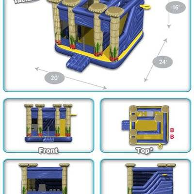 Atlantis Castle Inflatable Jumping Combo House