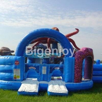 Ocean world inflatable jump park