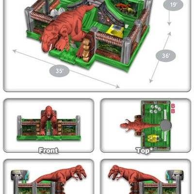 Giant jurassic zoo inflatable playground