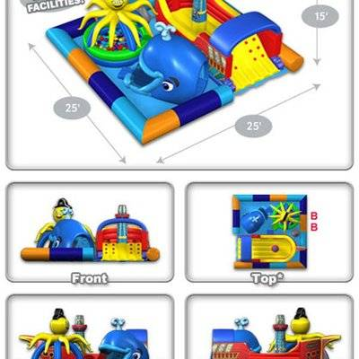 Sea ocean world inflatable jumping combo
