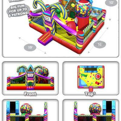 Inflatable candy playland toddler combo slide