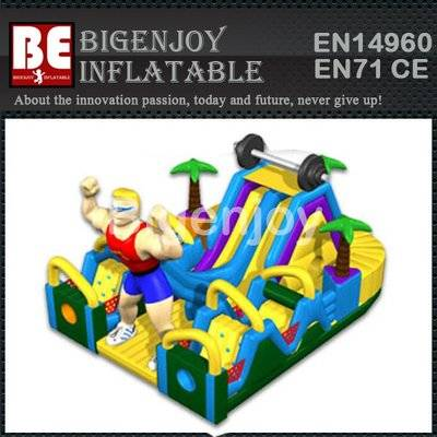 Ironman Challenge Inflatable Obstacle Course