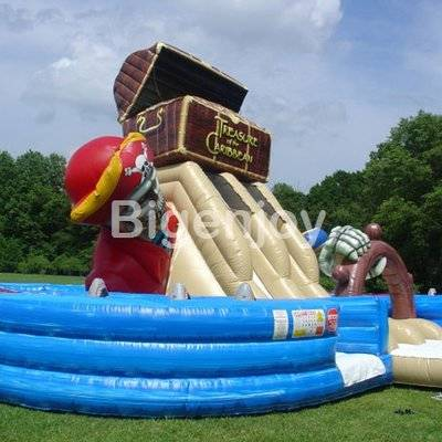 Treasure Of The Caribbean Obstacle Course Inflatable