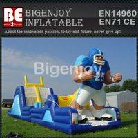 Endzone Challenge inflatable,inflatable obstacle Course,Endzone obstacle Course