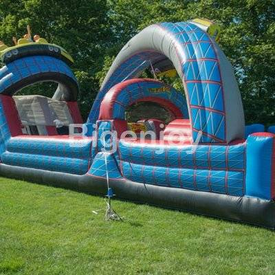 Roller coaster shape kids Inflatable obstacle course