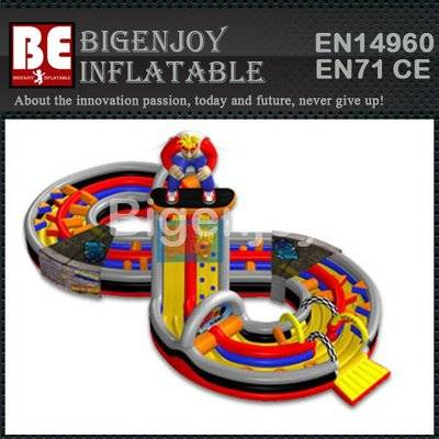 Cheap adult inflatable obstacle course
