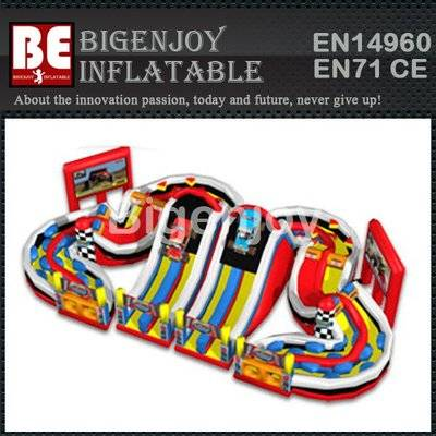 Racing and climbing outdoor inflatable obstacle course