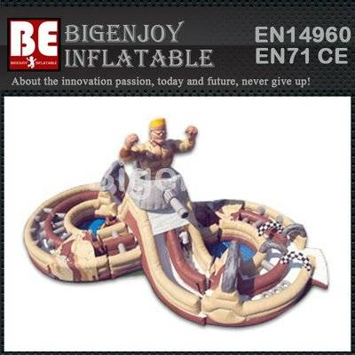 Outdoor Obstacle Challenge Inflatable Military Madness