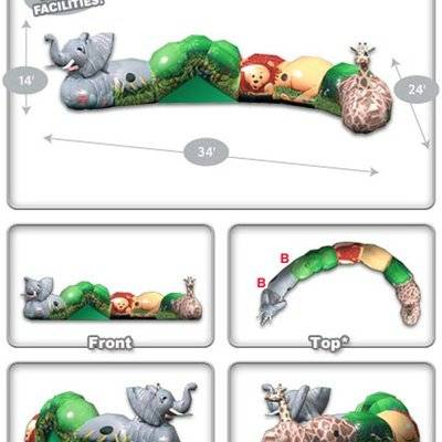Inflatable Jungle Crawl Play System