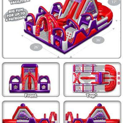 Commercial Chaos Inflatable Assault n Obstacle Courses