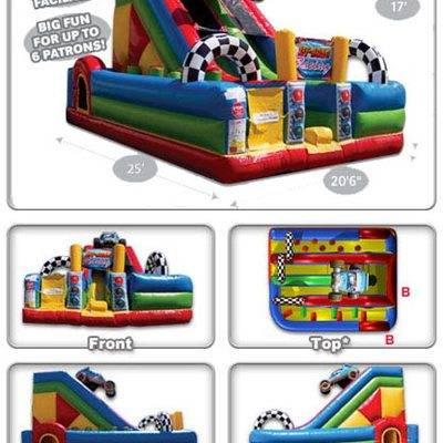 Off-road vehicle inflatable castle slide combo