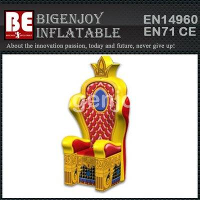 Inflatable throne model for advertising
