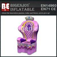 Pink Inflatable Throne,Commercial Inflatable Throne,princess Inflatable Throne