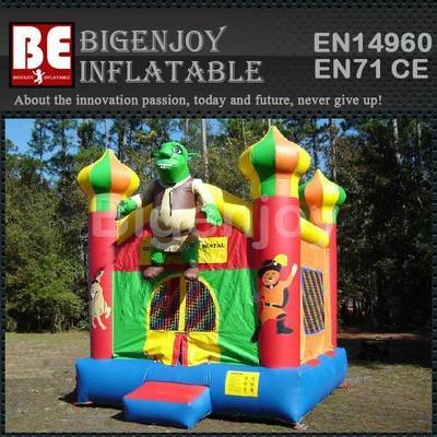 SHREK inflatable art panels bounce house