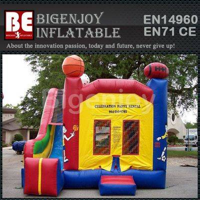 Sports theme inflatable bounce jumper combo
