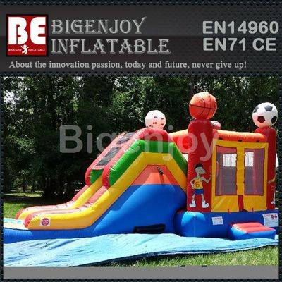 Inflatable bouncer water slide combo