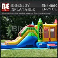 Crayola inflatable bouncer,bouncer house combo,Crayola combo