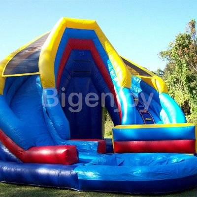 Commercial Double King Inflatable Water Slide