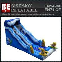 Safety inflatable slide,PVC tarpaulin inflatable slide,inflatable surf n slide