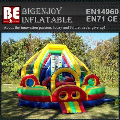 Colorful Rainbow toddler slide