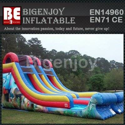 Bazer wave inflatable pvc material  slide