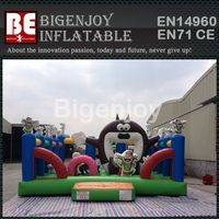 inflatable amusement park,cartoon amusement park,outdoor inflatable park