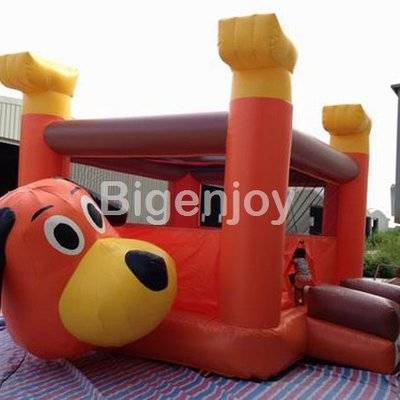 Inflatable amusement park lovely dog bounce