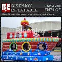 Inflatable Bouncer Combo,Pirate Theme Bouncer,Inflatable Pirate Combo
