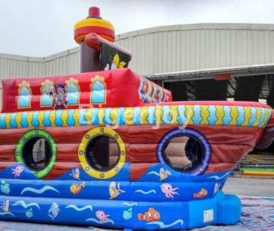 Inflatable Pirate Theme Bouncer Combo