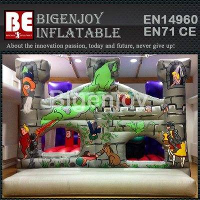 Inflatable dragon city playground bounce house