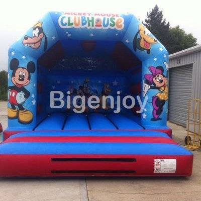 Inflatable mickey minnie jumping bouncer slide