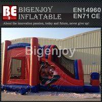 Spiderman inflatable bounce,bounce house with slide,inflatable bounce slide