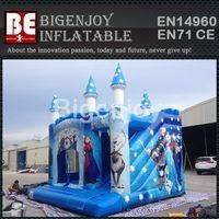 Blue inflatable castle combo,jumping castle combo,Blue inflatable combo