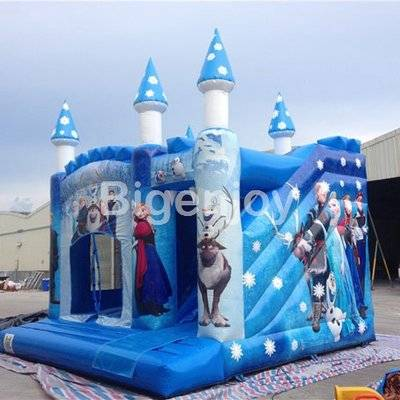 Blue inflatable commercial jumping castle combo