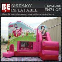 White Snow Princess bounce,backyard inflatable jumper,Princess inflatable bounce
