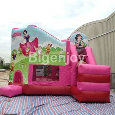 White Snow Princess backyard inflatable jumper bounce