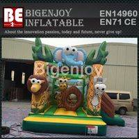 Outdoor safari park inflatable,park inflatable with slide,Outdoor inflatable slide
