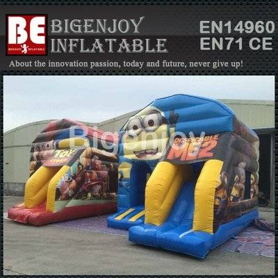 Minion theme inflatable bouncy castle