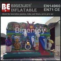 Factory price inflatable,inflatable jungle bounce slide,animal themed bounce slide
