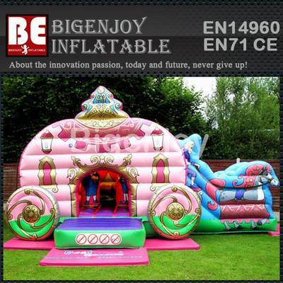 Inflatable Princess Combo with Slide and Bouncer