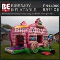 Pink princess carriage,inflatable princess carriage,beautiful inflatable carriage