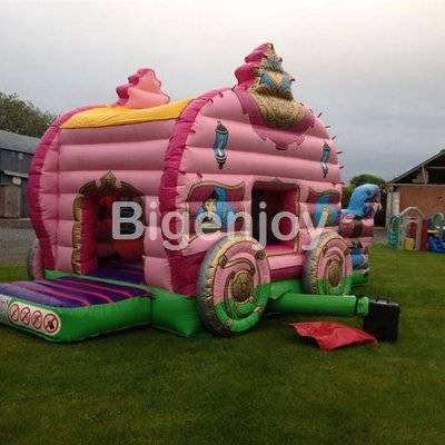 Pink beautiful inflatable princess carriage
