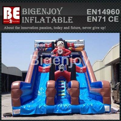 Pirate Theme Inflatable Double Lane Slip Slide